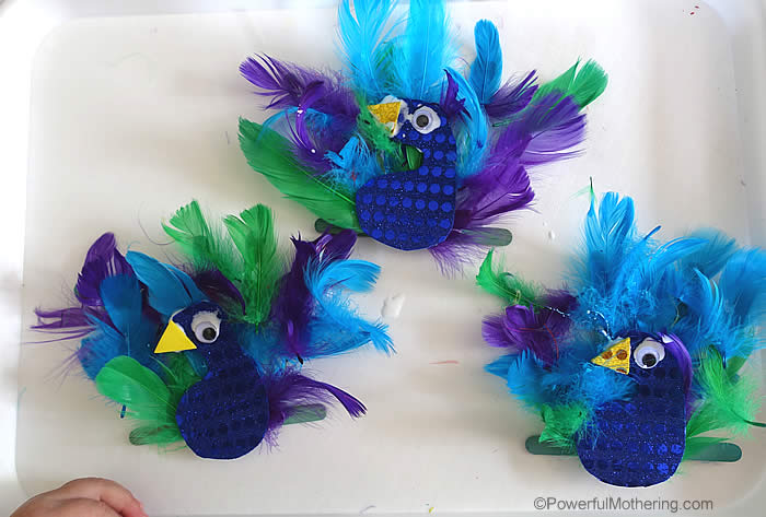 Peacock animal craft for Peacock crafts for adults