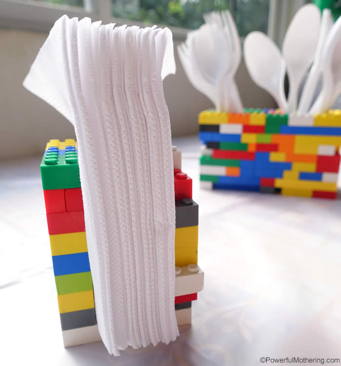 lego party idea for table