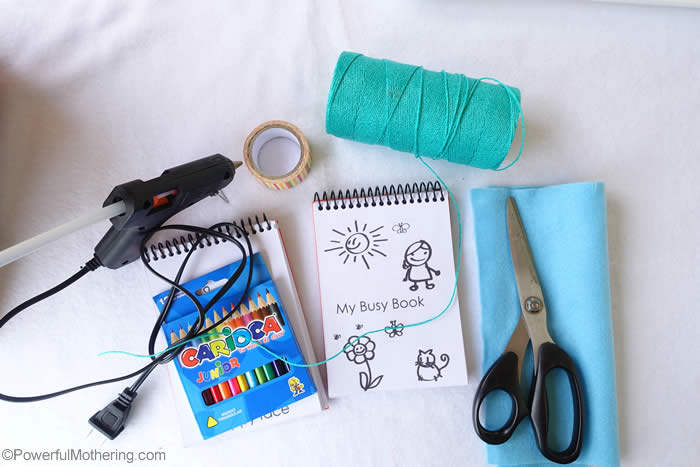 setup of busy book