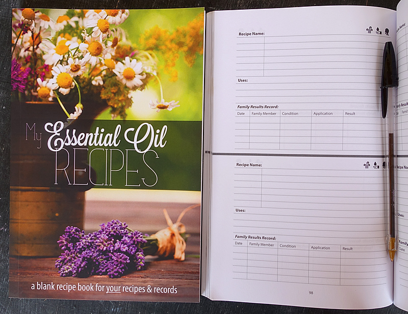 blank recipe book essential oils
