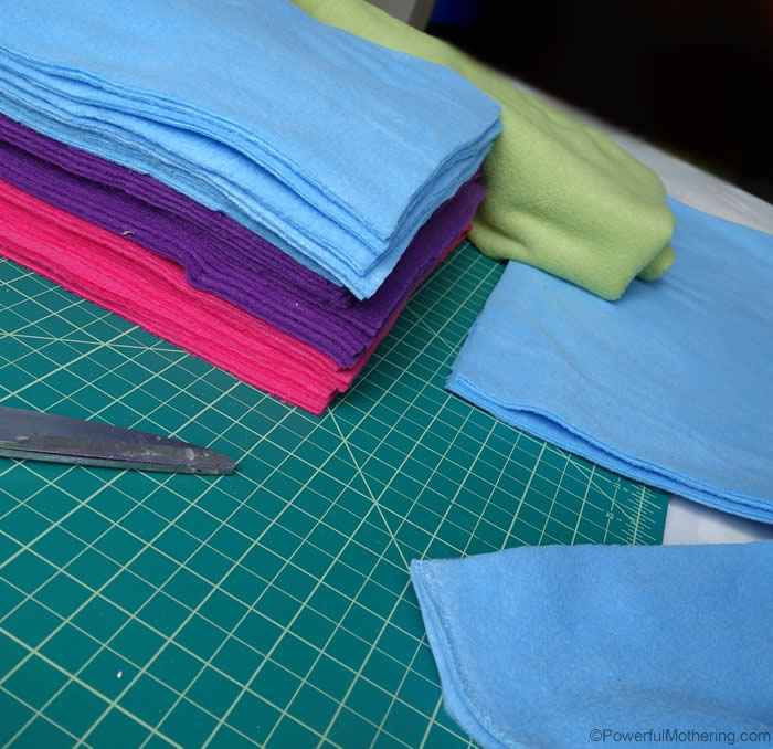 cut squares to size