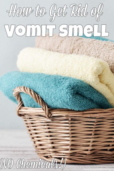 how to get rid of vomit smell