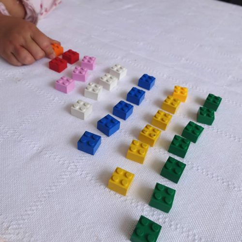 line up your lego in numbers