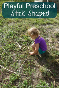 playful preschool creating with sticks
