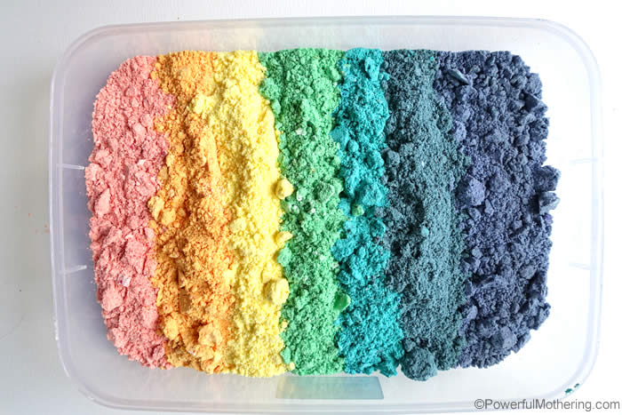 rainbow fizzy cloud dough