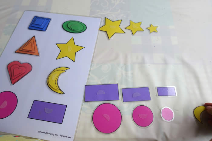 shape sorting printbale