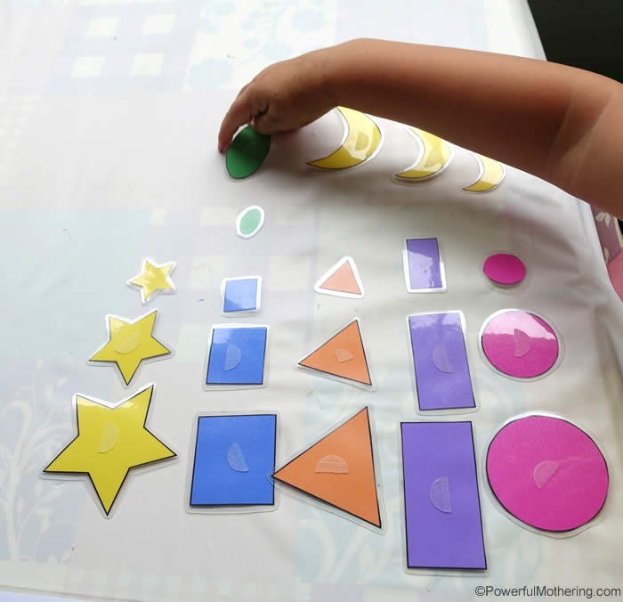 shapes size sorting