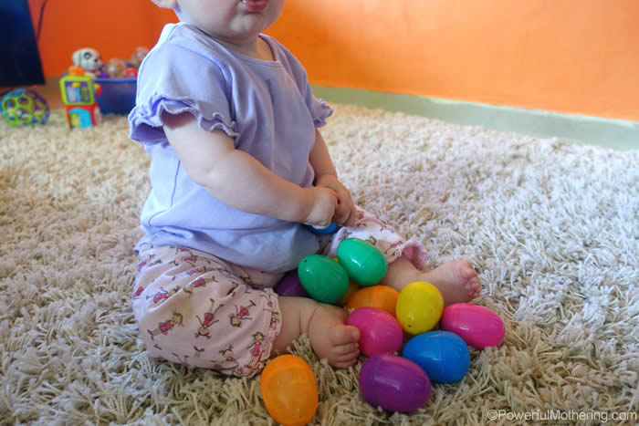 turn easter eggs into shakers