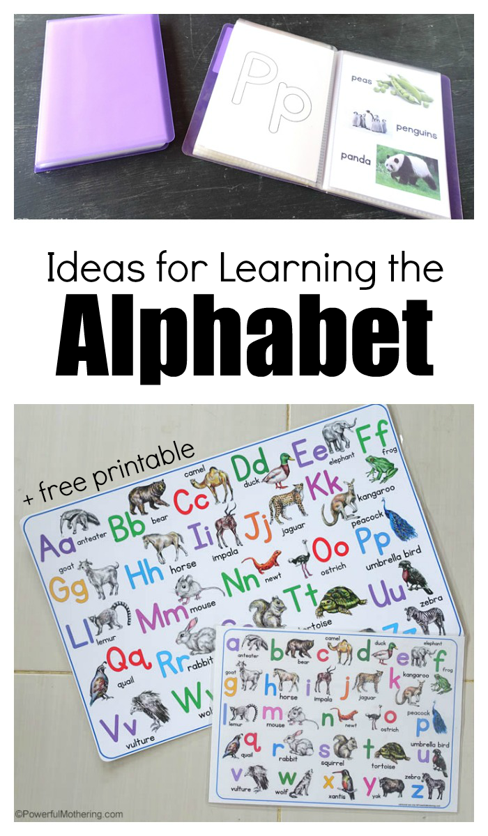 Free Printable ABC Poster And Ideas For Learning The Alphabet