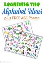 Learning the Alphabet Ideas plus FREE ABC Poster