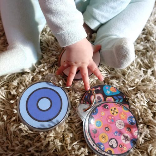 colorful cirlces for baby