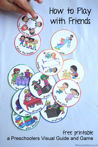 How to Play with Friends a Preschoolers Visual Guide and Game