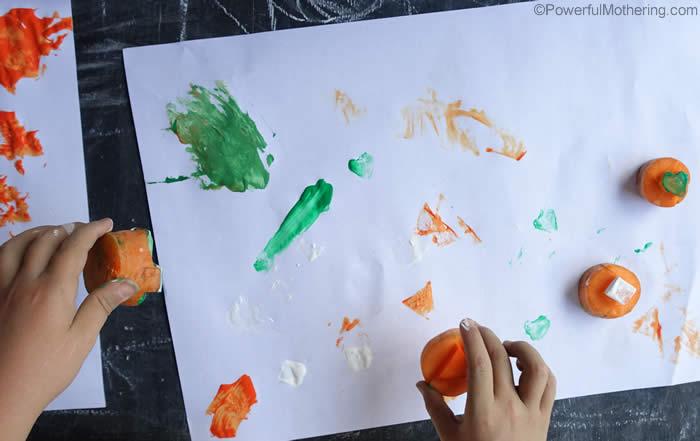 painting with veg