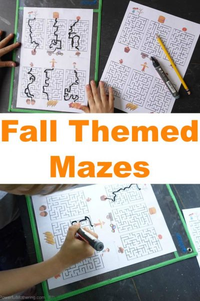 Fall Themed Mazes (Free Printable)