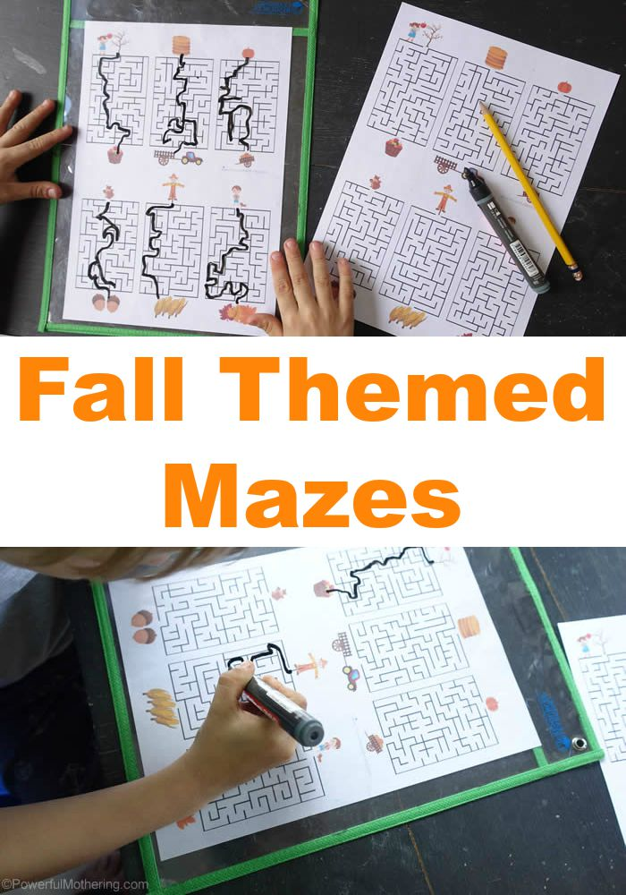 Fall Themed Mazes