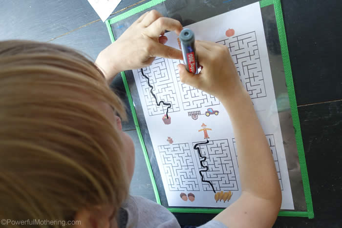 busy bag mazes