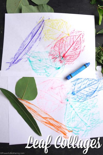 leaf collage fun for preschool