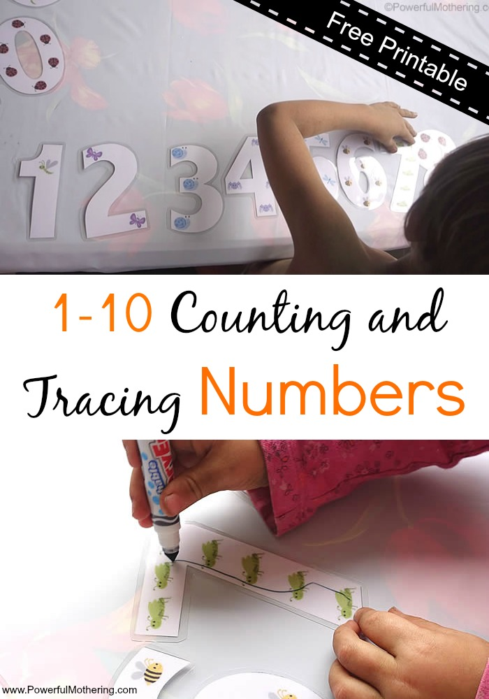 1-10 Counting and Tracing Numbers printable