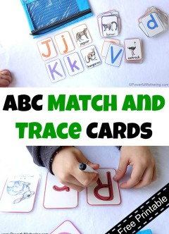 ABC Match and Trace Cards (Free Printable)