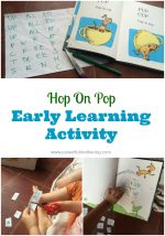 Hop on Pop (by Dr Seuss) Early Learning Activity