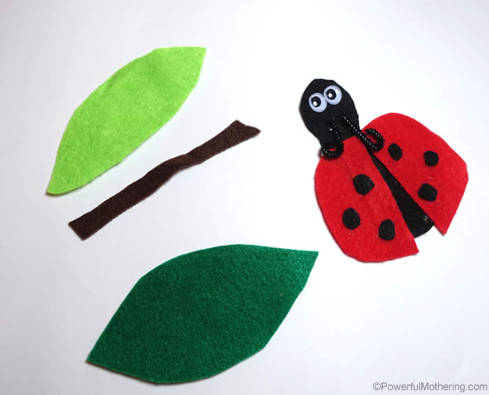 Ladybug parts for quietbook