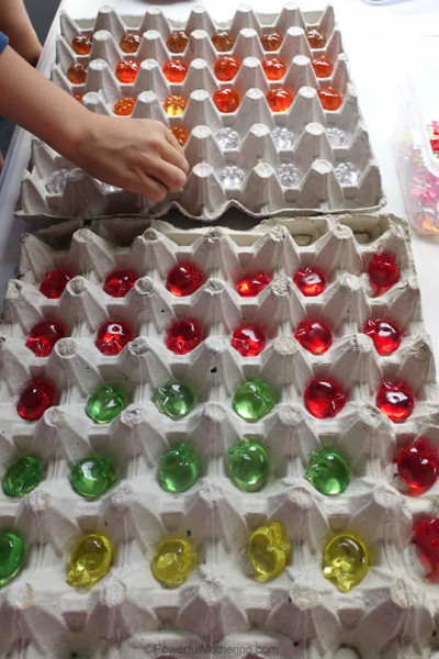Matching and Sorting Idea with Egg Cartons