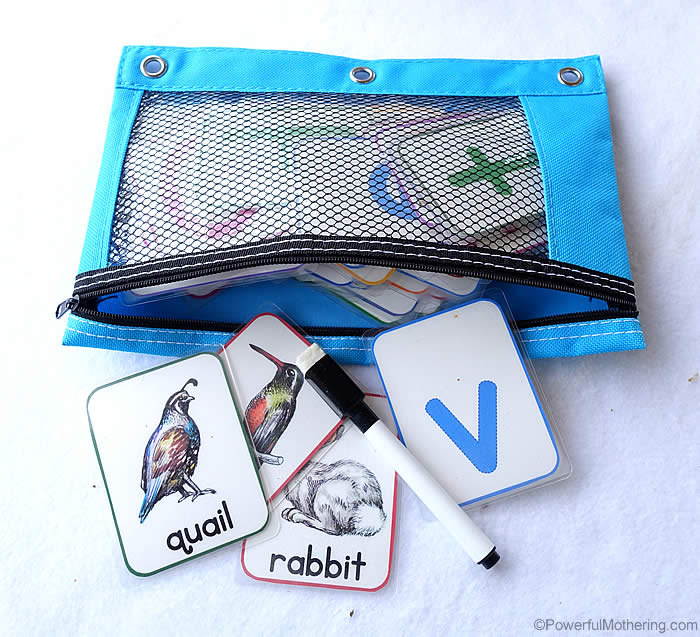 alphabet busy bag