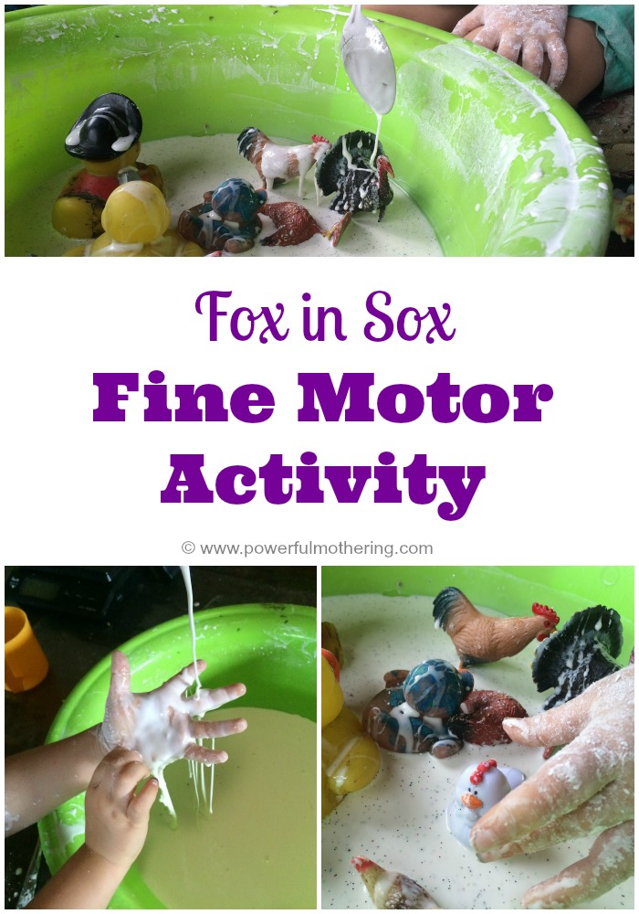 fox in sox fine motor activity