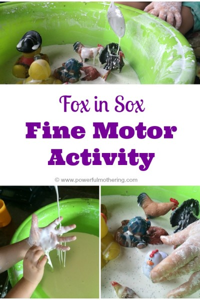 Fox in Sox (by Dr Seuss) Fine Motor Activity