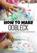 How to Make Oobleck Recipe (Sensory and Science)