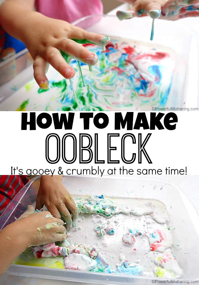 how to make oobleck recipe sensory and science