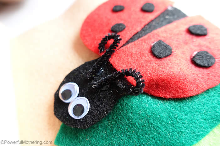 ladybug with dots and pipecleaners