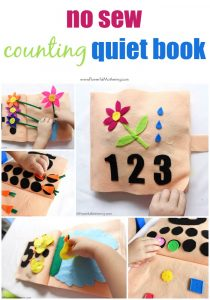 no sew counting quiet book