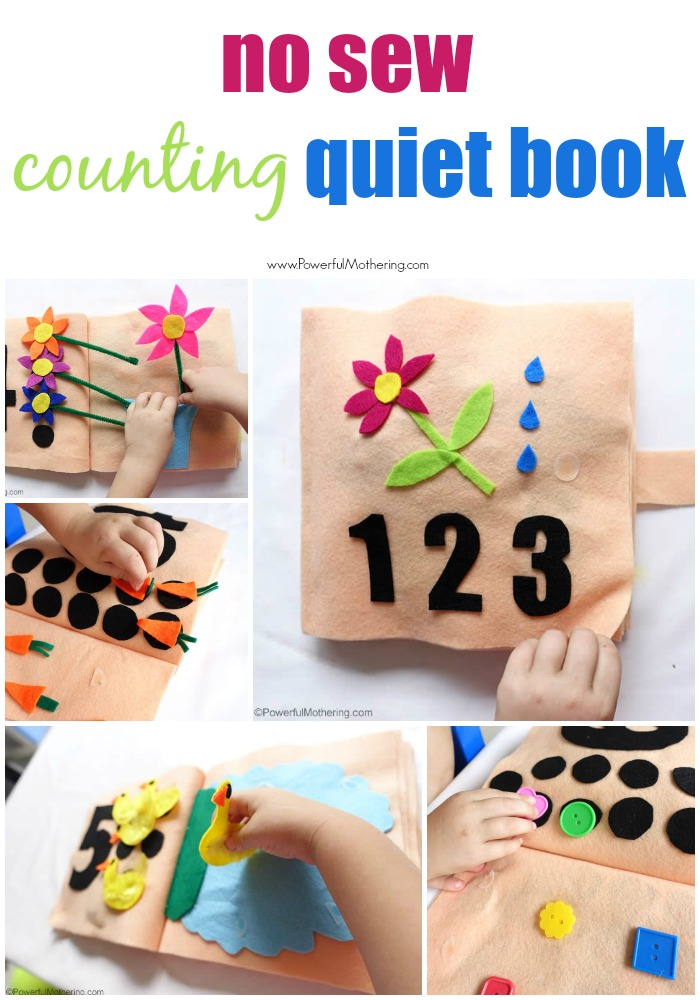 No Sew Counting and Numbers Quiet Book – Part 1