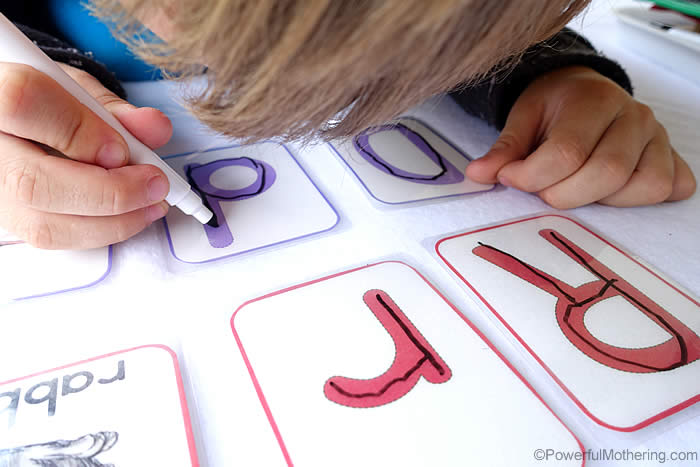 preschool alphabet tracing