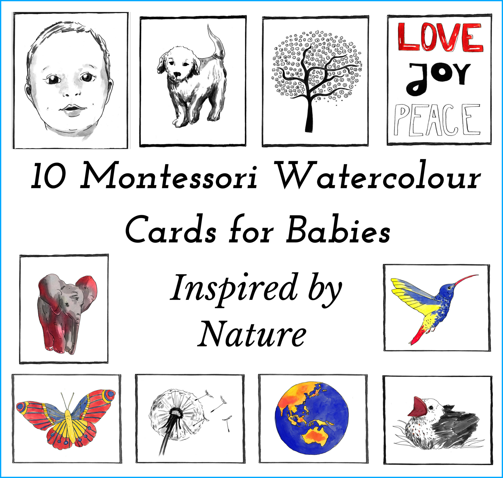 10 Baby Watercolour Printables