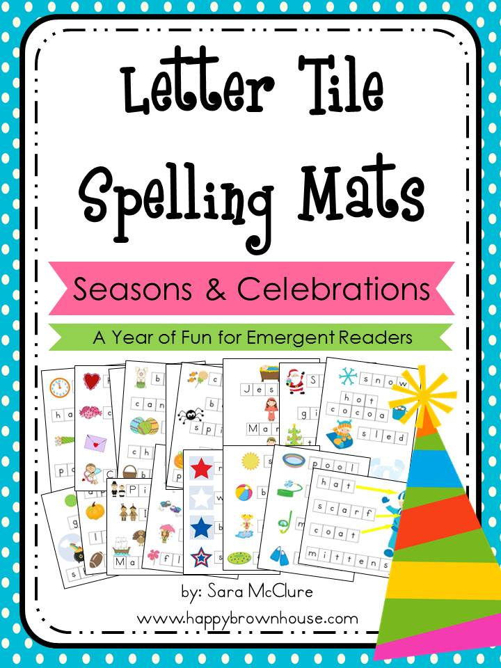 Letter Tile Spelling Mats Bundle (Seasons-Holidays)