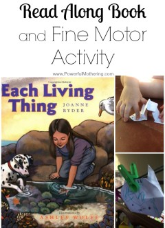 Read Along Book and Fine Motor Activity