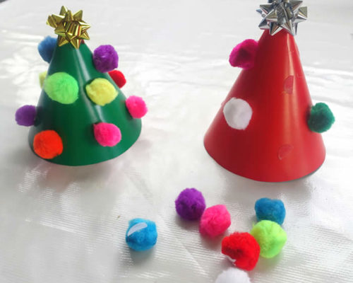 Reusable Pom Pom Christmas Tree Busy Bag