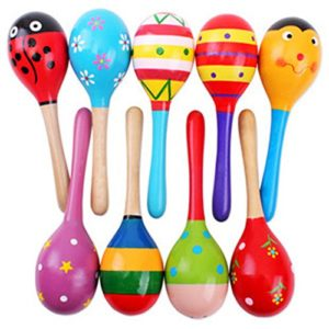 wooden rattle for 1 year old