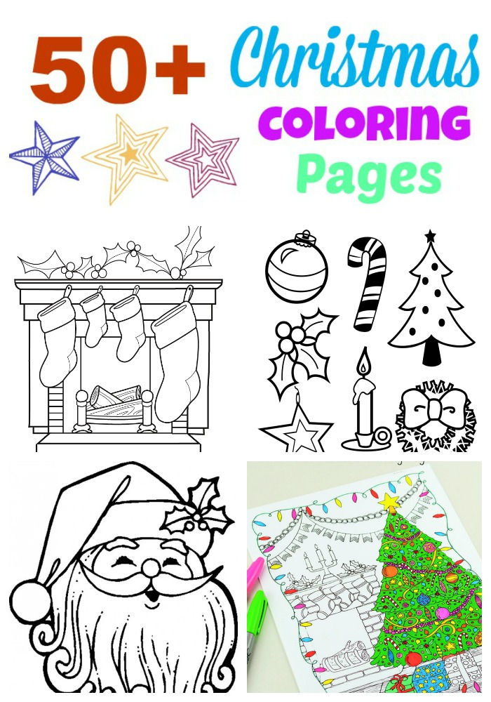 50+ Christmas Coloring Pages