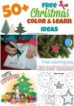 50+ Free Christmas Color & Learn Ideas