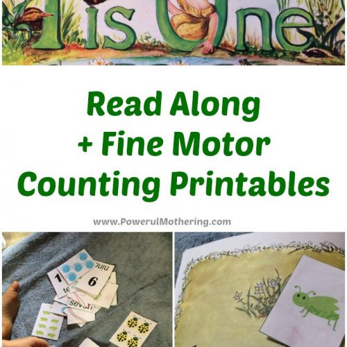 Read along and fine motor counting printables
