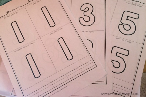 counting number printable