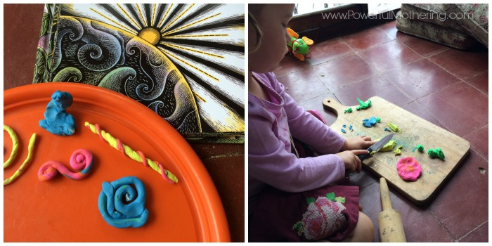 play dough fine motor activity