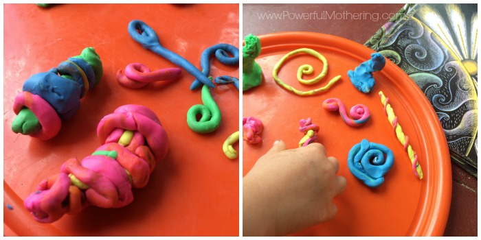 play dough preschool activity