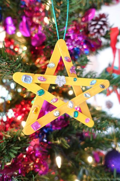 star on christmas tree