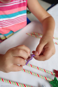 Counting Straws Fine Motor Game