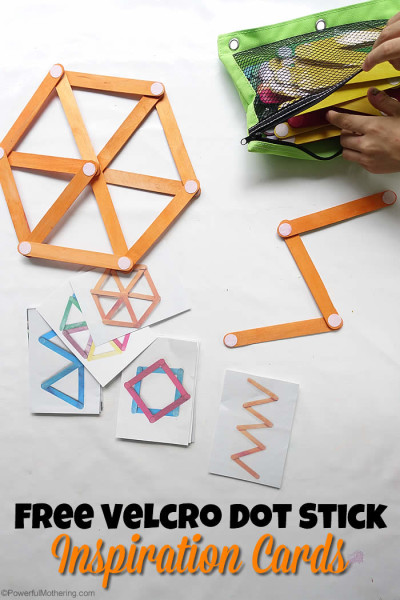 Velcro Dot Craft Stick Building Cards