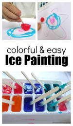 Easy and Colorful Ice Painting Art for Toddlers and Preschoolers